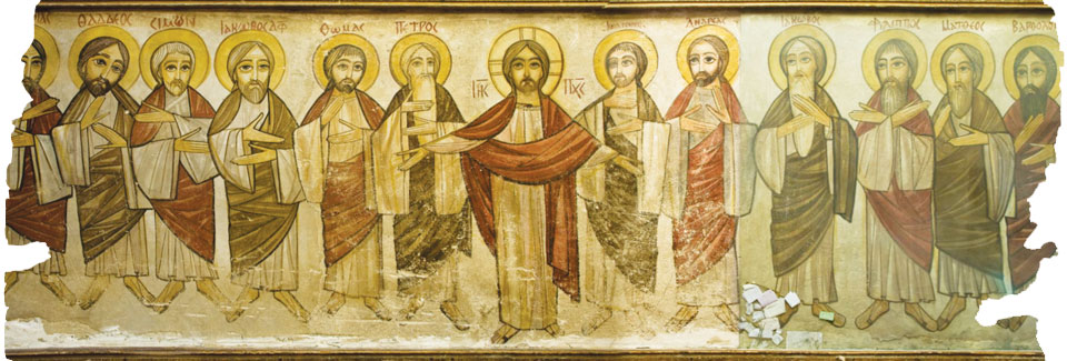 Paintings from the Church of Saint George, west wall (Saint Beshoy Monastery)