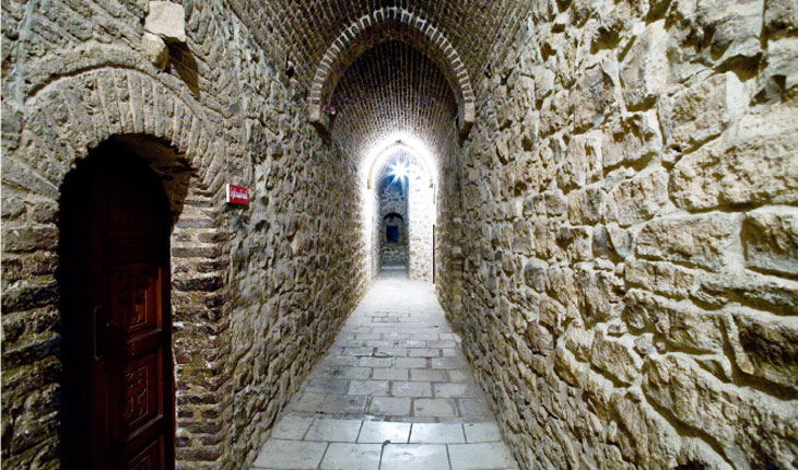 Entrance to the Church of the Virgin Mary on the second floor of the keep