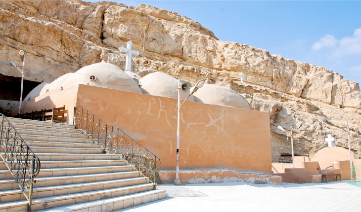 Upper terrace with Church of the Apostles. Monastery of El Ganadla