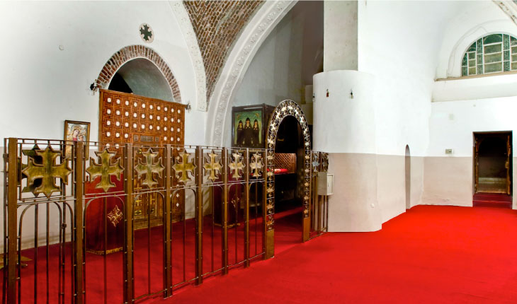 Choir and nave with church entrance in background. Church of Saint Iskheirun