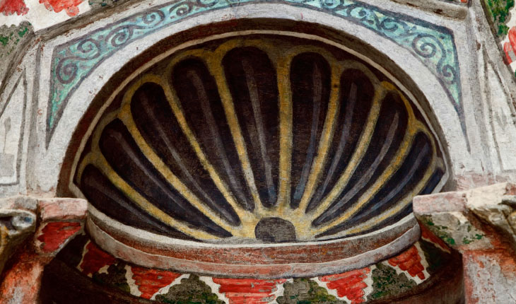 Niche detail, south wall, first tier. Church of 64 Begol
